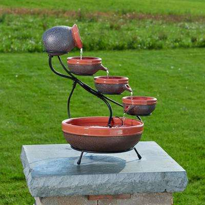 Fountains – Outdoor Decor – The Home Depot Within Journey Outdoor Wall Lanterns (View 18 of 20)