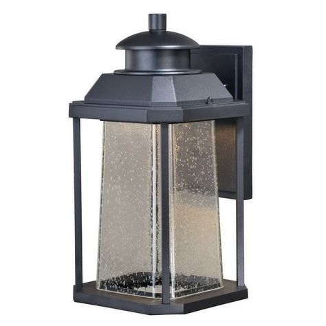 Freeport Aluminum 1 Light Led Dusk To Dawn Black Outdoor Throughout Brook Black Seeded Glass Outdoor Wall Lanterns With Dusk To Dawn (View 11 of 20)