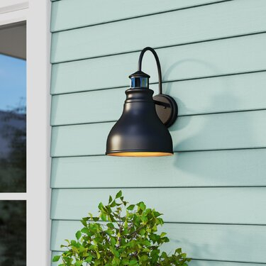 Galvanized Barn Light   Wayfair Within Ranbir Oil Burnished Bronze Outdoor Wall Lanterns With Dusk To Dawn (View 7 of 20)
