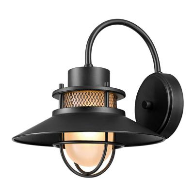 Globe Electric Liam Collection 1 Light Bronze Outdoor Wall Throughout Needham Dark Bronze Seeded Glass Outdoor Lights (View 13 of 20)