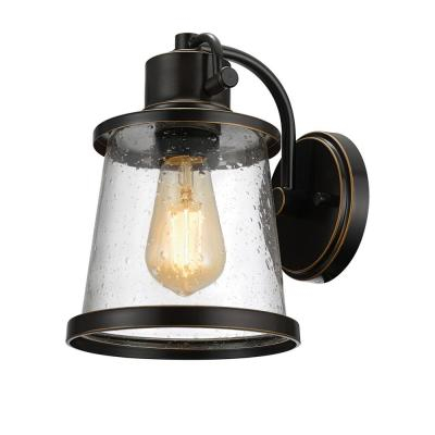 Globe Electric Memphis 2 Light Dark Bronze Flush Mount For Needham Dark Bronze Seeded Glass Outdoor Lights (View 19 of 20)