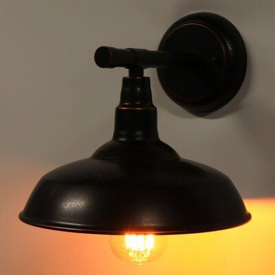 Gracie Oaks Coster Outdoor Barn Light Fixture Finish: Oil In Aleena Outdoor Barn Lights (View 9 of 20)