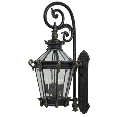 Popular Photo of Faunce Beveled Glass Outdoor Wall Lanterns