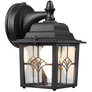 Hampton Augustine Lantern Dusk To Dawn Activated, Outdoor Throughout Keiki Matte Black Outdoor Wall Lanterns (View 5 of 20)
