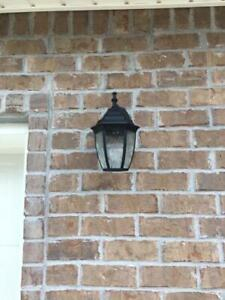 Hampton Bay Black Outdoor Led Wall Lantern Sconce (2 Pack With Regard To Socorro Black Outdoor Wall Lanterns (View 20 of 20)