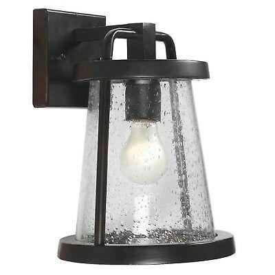 Hampton Bay Gale 1 Light Black Outdoor Wall Lantern–nob Intended For Nayen Black Wall Lanterns (View 3 of 20)
