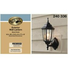 Hampton Bay Lantern Outdoor Wall & Porch Lights For Sale Inside Clarisa Seeded Glass Outdoor Barn Lights With Dusk To Dawn (View 14 of 20)