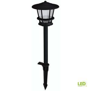 Hampton Bay Low Voltage Black Outdoor Integrated Led 2 Regarding Sheard Textured Black 2 – Bulb Wall Lanterns (View 1 of 20)