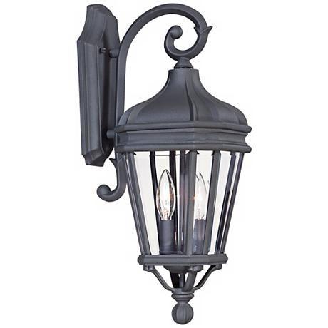 "Harrison 20"" High Vintage Black Outdoor Wall Light – # Within Walland Black Outdoor Wall Lanterns (View 3 of 20)"