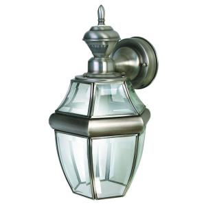 Heath Zenith 150 Degree Silver Hanging Carriage Lantern With Powell Beveled Glass Outdoor Wall Lanterns (View 10 of 20)