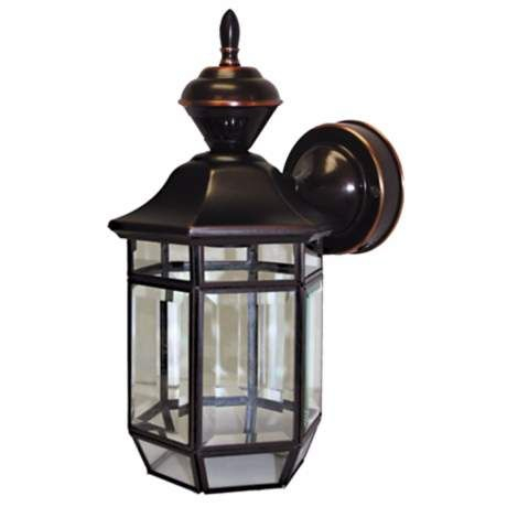 """Heritage Black 21"""" Dusk To Dawn Motion Sensor Outdoor Pertaining To Clarence Black Outdoor Wall Lanterns (View 2 of 20)"""