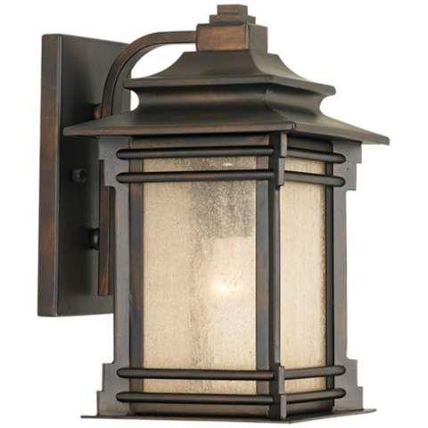 """Hickory Point 12"""" High Walnut Bronze Outdoor Wall Light Regarding Gillett Outdoor Wall Lanterns (View 7 of 20)"""