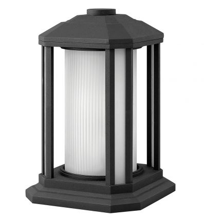 Hinkley Lighting – Castelle Outdoor Pier Mount   Post Inside Verne Oil Rubbed Bronze Beveled Glass Outdoor Wall Lanterns (View 8 of 20)
