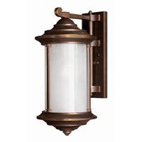 Hinkley Lighting Hanna 1 Light Outdoor Wall Lantern In Within Tangier Dark Bronze Wall Lanterns (View 14 of 20)