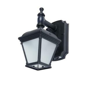 Home Decorator Black Motion Activated Outdoor Integrated Intended For Walland Black Outdoor Wall Lanterns (View 2 of 20)
