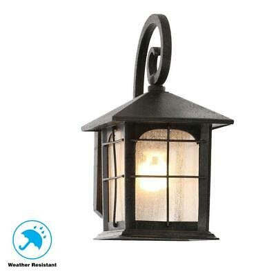 Home Decorators Brimfield 1 Light Aged Iron Outdoor Wall Regarding Borde Black Outdoor Wall Lanterns (View 2 of 20)