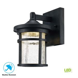 Home Decorators Collection Aged Iron Outdoor Led Wall With Regard To Meunier Glass Outdoor Wall Lanterns (View 3 of 20)