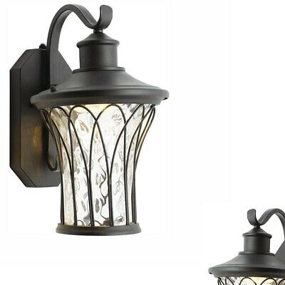 Home Decorators Collection Black Outdoor Lighting Led Dusk In Vendramin Black Glass Outdoor Wall Lanterns (View 14 of 20)