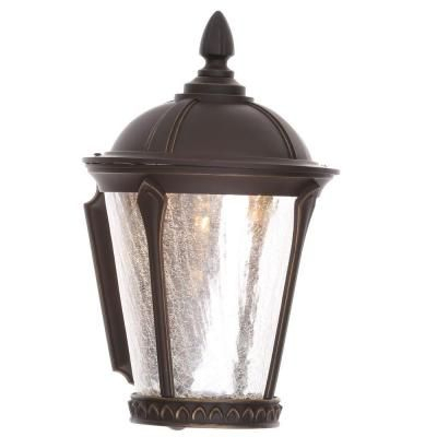 Home Decorators Collection Cottrell Aged Bronze Patina Intended For Jaceton Black Outdoor Wall Lanterns (View 11 of 20)