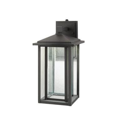 Home Decorators Collection – Outdoor Lighting – Lighting With Regard To Brook Black Seeded Glass Outdoor Wall Lanterns With Dusk To Dawn (View 8 of 20)