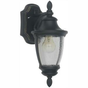 Home Decorators Collection Wilkerson 1 Light Black Outdoor Inside Nayen Black Wall Lanterns (View 13 of 20)