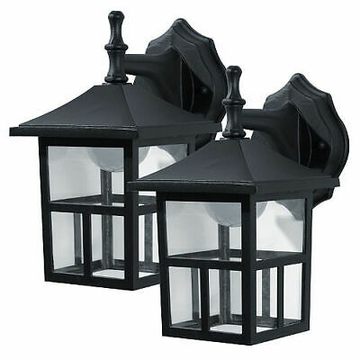 Honeywell Outdoor Led Wall Mount Lantern (2 Pack Pertaining To Borde Black Outdoor Wall Lanterns (View 14 of 20)
