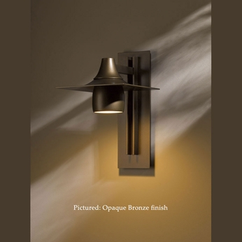 Hubbardton Forge 30 6567 Hood Transitional Dark Sky 16 Within Feuerstein Black 16'' H Outdoor Wall Lanterns (View 12 of 20)