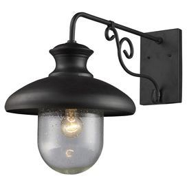 Illuminate Your Front Porch Or Patio In Style With This In Clarisa Seeded Glass Outdoor Barn Lights With Dusk To Dawn (View 11 of 20)