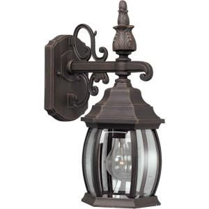 Illumine 1 Light Outdoor Painted Rust Lantern With Clear Throughout Powell Beveled Glass Outdoor Wall Lanterns (View 17 of 20)