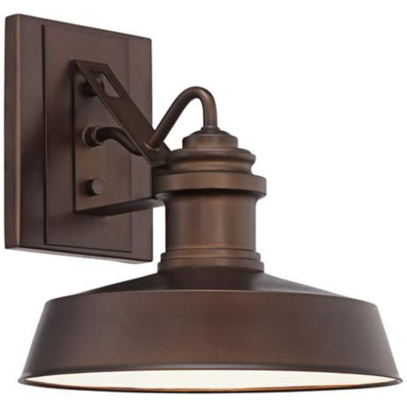 """John Timberland Redfearn 10 1/2""""h Bronze Outdoor Wall Inside Jordy Oil Rubbed Bronze Outdoor Wall Lanterns (View 7 of 20)"""
