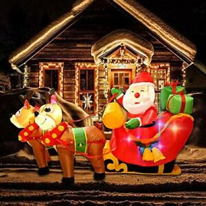 K 6ft Christmas Inflatables Outdoor Decorations, Santa On With Regard To Journey Outdoor Wall Lanterns (View 19 of 20)
