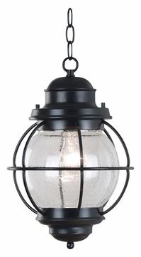 Kenroy Home 90965bl Hatteras 10 Inch Diameter Black With Feuerstein Black 16'' H Outdoor Wall Lanterns (View 11 of 20)