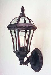 Kensington Wall Lantern – Black With Regard To Garneau Black Wall Lanterns (View 5 of 20)