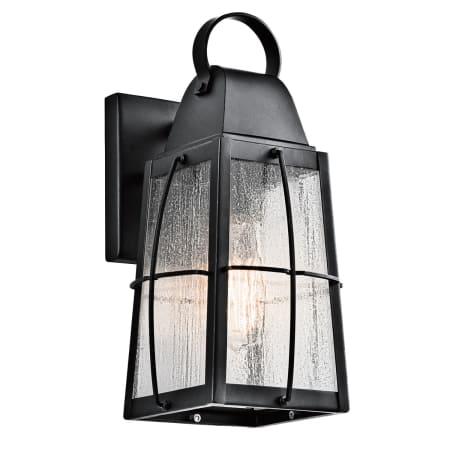 Kichler 49554bkt Textured Black Tolerand Collection 1 Throughout Rockmeade Black Outdoor Wall Lanterns (View 19 of 20)