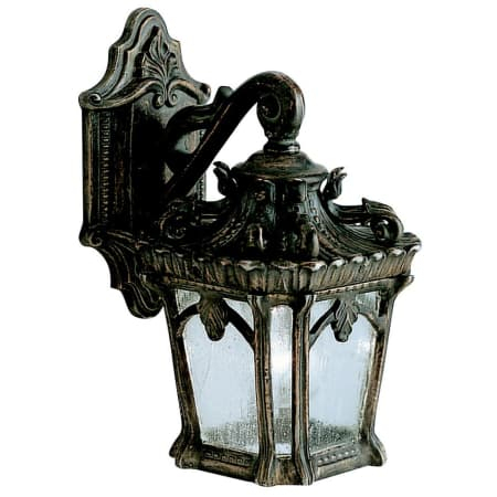 Kichler 9355bkt Black Tournai Collection 1 Light 11 Inside Payeur Hammered Glass Outdoor Wall Lanterns (View 17 of 20)