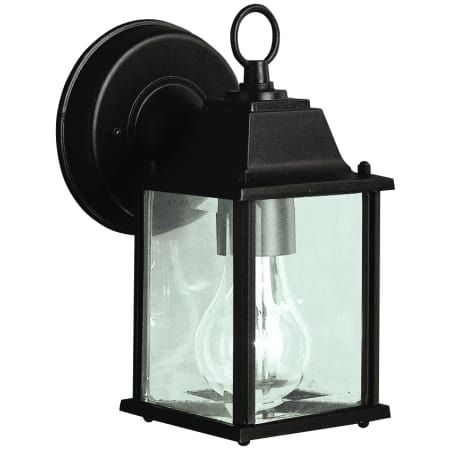 """Kichler 9794bk Black Barrie 9"""" Outdoor Wall Light With For Faunce Beveled Glass Outdoor Wall Lanterns (View 8 of 20)"""