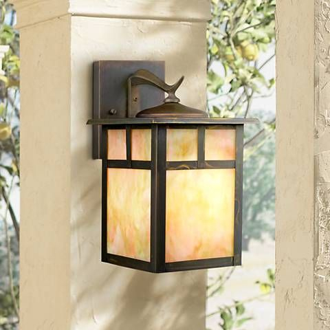 """Kichler Alameda 11 1/2"""" High Outdoor Wall Light – #82535 With Regard To Chicopee 2 – Bulb Glass Outdoor Wall Lanterns (View 9 of 20)"""
