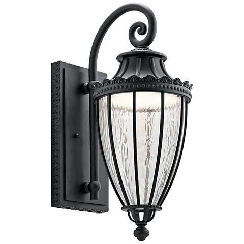"""Kichler Wakefield 22 1/4"""" High Black Led Outdoor Wall In Ciotti Black Outdoor Wall Lanterns (View 6 of 20)"""