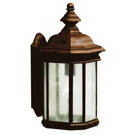 "Kirkwood Tannery Bronze 17"" High Outdoor Wall Light – # Inside Powell Beveled Glass Outdoor Wall Lanterns (View 11 of 20)"