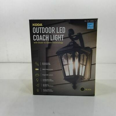 Koda Outdoor Led Coach Light With Dusk To Dawn Technology Within Ballina Matte Black Outdoor Wall Lanterns With Dusk To Dawn (View 8 of 20)
