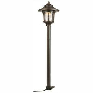 Landscape Path Light Seeded Glass 10w Oil Rubbed Bronze Intended For Verne Oil Rubbed Bronze Beveled Glass Outdoor Wall Lanterns (View 14 of 20)