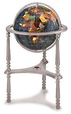 Large Black Opalite Gemstone Globe With Ambassador Floor With Regard To Ainsworth Earth Black Outdoor Wall Lanterns (View 13 of 20)
