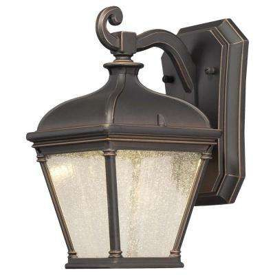 Lauriston Manor 1 Light Oil Rubbed Bronze Outdoor Wall With Faunce Beveled Glass Outdoor Wall Lanterns (View 4 of 20)