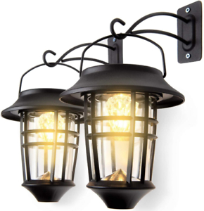 Leidrail Solar Wall Lantern Lights Outdoor Hanging Within Brookland Outdoor Wall Lanterns (View 20 of 20)