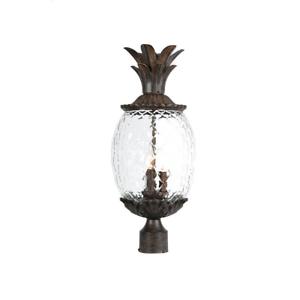 Light Fixture Post Mount 3 Light Outdoor Pineapple Shaped Inside Roden Black 3 Bulb Outdoor Wall Lanterns (View 17 of 20)