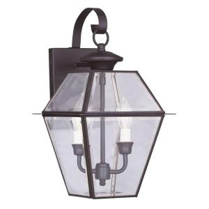 Livex Lighting 2 Light Lantern Bronze Outdoor Wall With Throughout Powell Beveled Glass Outdoor Wall Lanterns (View 9 of 20)