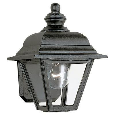 Loading   Sea Gull Lighting, Black Outdoor Wall Lights Regarding Vendramin Black Glass Outdoor Wall Lanterns (View 12 of 20)