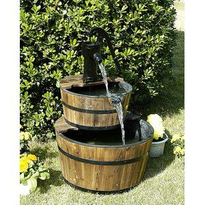 Loon Peak® Vera Wood Rustic Wishing Well Outdoor Fountain For Vera Outdoor Wall Lanterns (View 5 of 20)