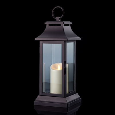 Luminara – Flameless Led Candle Lantern – Traditional Intended For Roden Black 3 Bulb Outdoor Wall Lanterns (View 14 of 20)