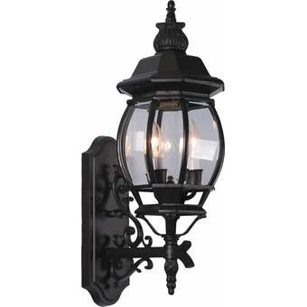 Macomber Matte Black Clear Water Glass Outdoor Wall With Walland Black Outdoor Wall Lanterns (View 6 of 20)